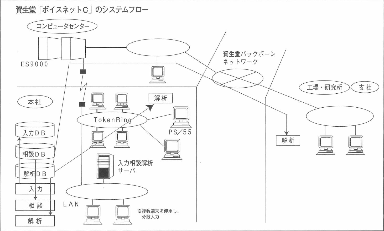 資生堂「ボイスネットC」のシステムフロー