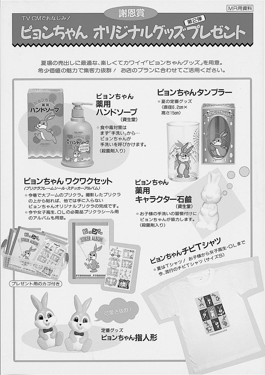 薬局薬店向けの新生ピョンちゃんグッズのキャンペーン用リーフレット