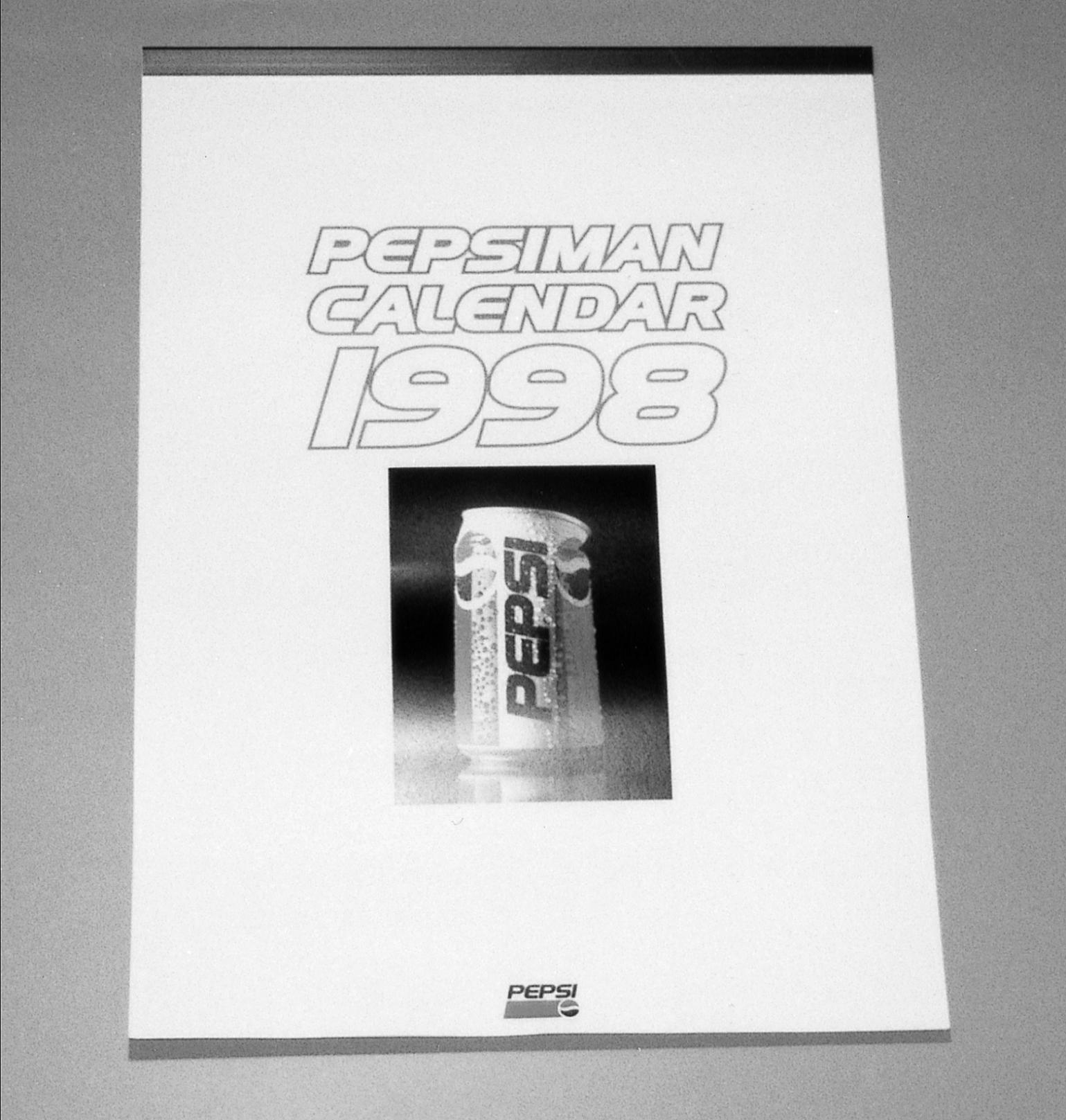 日本ペプシコーラ社の今年のカレンダー。ここでも「ペプシマン」は大活躍
