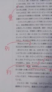 「別」「量」などの漢字が欠落した例