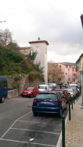 村の中心部を臨む風景