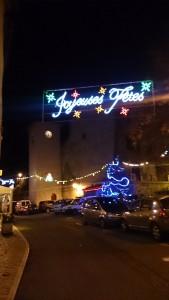 村の広場に置かれたクリスマスツリーは、東京の街中のそれとは大違い。クリスマスの本来の姿を思い出させてくれる